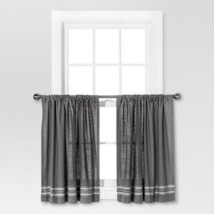 Threshold Curtain Tiers- Set of 2 Panels